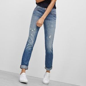 J Brand Jake Broken Distressed Boyfriend Jeans